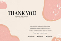 pink black white thank you business postcard landscape  Thank You Messages