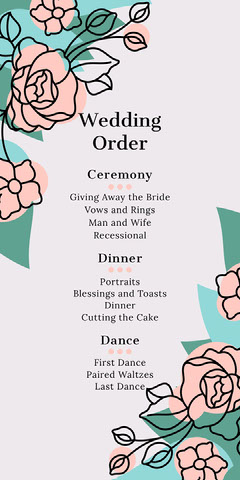 flower corner wedding program  Flowers