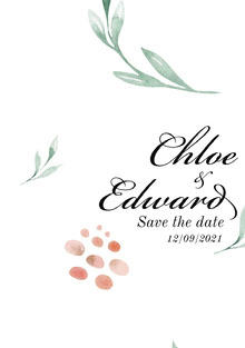 Chloe & Edward Save the Date Card Bryllupskort