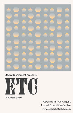 Blue Geometric Degree Show Poster Art Show