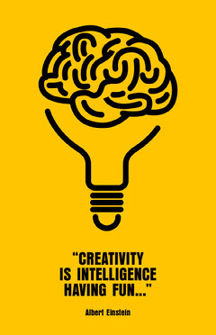 creativity poster  Yellow
