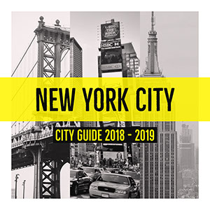 Black, White and Yellow Collage New York City Guide Instagram Post 50 polices modernes