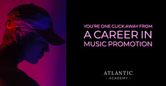 Blue and Pink Music Promotion Career Poster