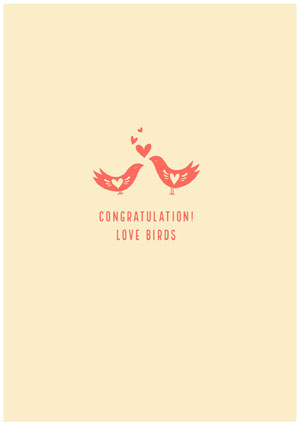 Congratulation!<BR>Love Birds  Lykønskningskort