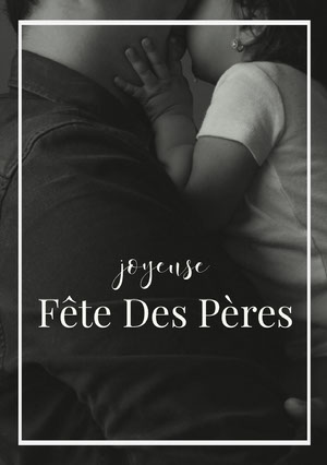 black and white photo Father's Day cards Texte sur les photos
