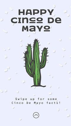 Happy Cinco De Mayo Instagram Story Cactus