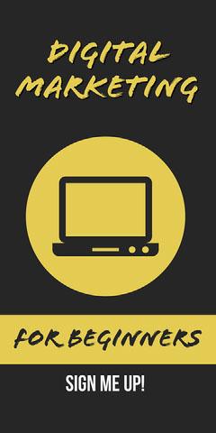 Yellow Digital Marketing Web Banner  Marketing
