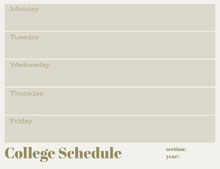 Gray Weekly College Schedule Aikataulu