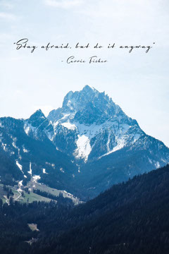 Carrie Fisher Quote Pinterest Mountains