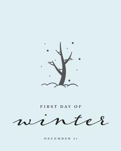 first day of winter instagram portrait Winter