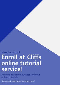 Enroll at Cliffs online tutorial service! Tutorial