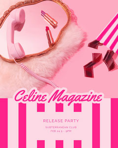 Celine Magazine  Club Party