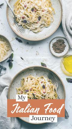 Pasta Flat-Lay Restaurant Image Snapchat Story Filter Food