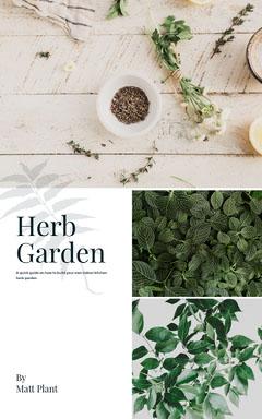 Green and White, Light Toned Herb Garden Instagram Story Garden