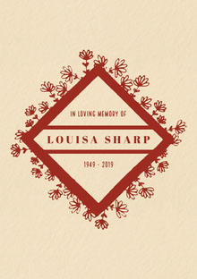 LOUISA SHARP Manifesto funerario