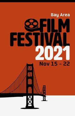 Black White and Orange Film Festival Poster Film Festival Poster