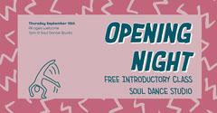 Pink Soul Dance Opening Night Facebook  Dance Flyer