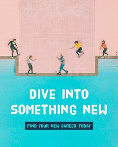 Blue Swimming Pool New Career Instagram Portrait Career Poster