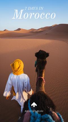 White With View Of Morocco Desert Social Post Desert