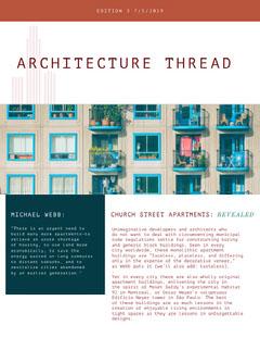Architectural Design Newsletter Graphic Architecture