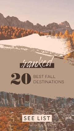 Best Fall Destinations Instagram Social Post Fall