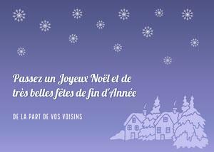 Purple Gradient Snowflake Christmas Gift Label Carte de Noël