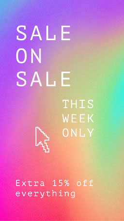 Rainbow Gradient Bright Colorful Sale Announcement Instagram Story