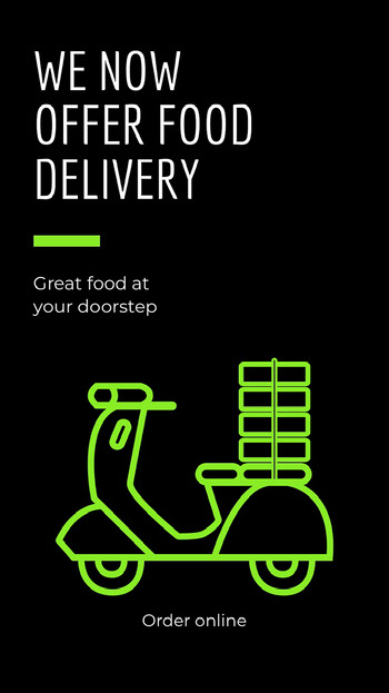 food delivery service instagram story COVID-19
