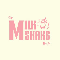 cream pink pastel the milkshake house logo instagram square  Drink Menu