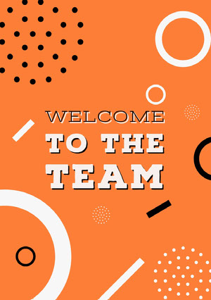 Orange White and Black Welcome Card Welcome Card Messages