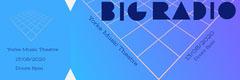 Blue Futuristic Geometric Concert Ticket Concert Ticket