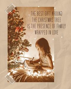 Brown Paper Christmas Image Instagram Portrait Christmas Invitation