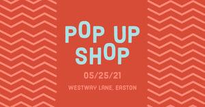 Red & Blue Pop Up Shop Facebook Advert Advertisement Flyer