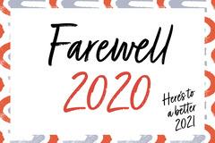 Red & Blue Farewell 2020 Card Farewell