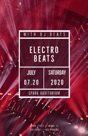 Electro Beats Concertposter