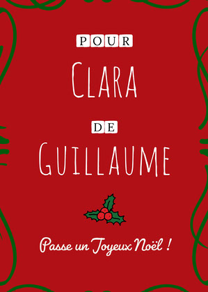 Red and Green Merry Christmas Gift Label   Carte de Noël