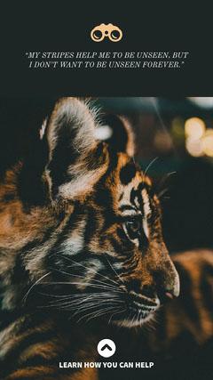 Dark Toned Wildlife Care Ad Instagram Story Animal