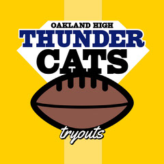 Yellow Thunder Cats IG Square Sports