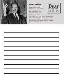 Black and White School Task Card Document Tarjetas