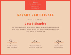 Pink Web Designer Salary Certificate Tax Flyer