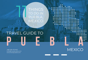 Blue and White Puebla Brochure Travel Brochure