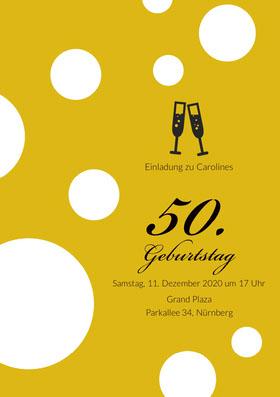 50.<BR> Einladung zum Geburtstag