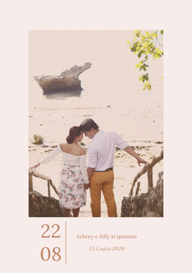 romantic photo save the date card Partecipazione
