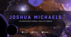 Purple Outer Space Style Twitch Banner Galaxy
