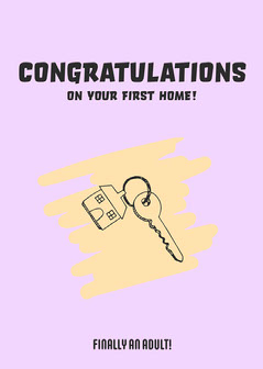First Home Owner Card Purple