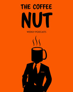Orange Black Coffee  Man Suit Podcast Instagram Portrait  Coffee