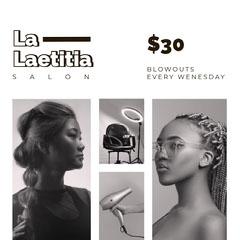 Black and White Beauty Salon Promotion Beauty Salon
