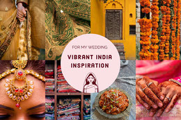 India Inspiration Mood Board Montage photo