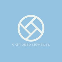 blue minimal photography logo Photography