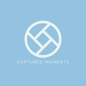 blue minimal photography logo Logo de Photographie